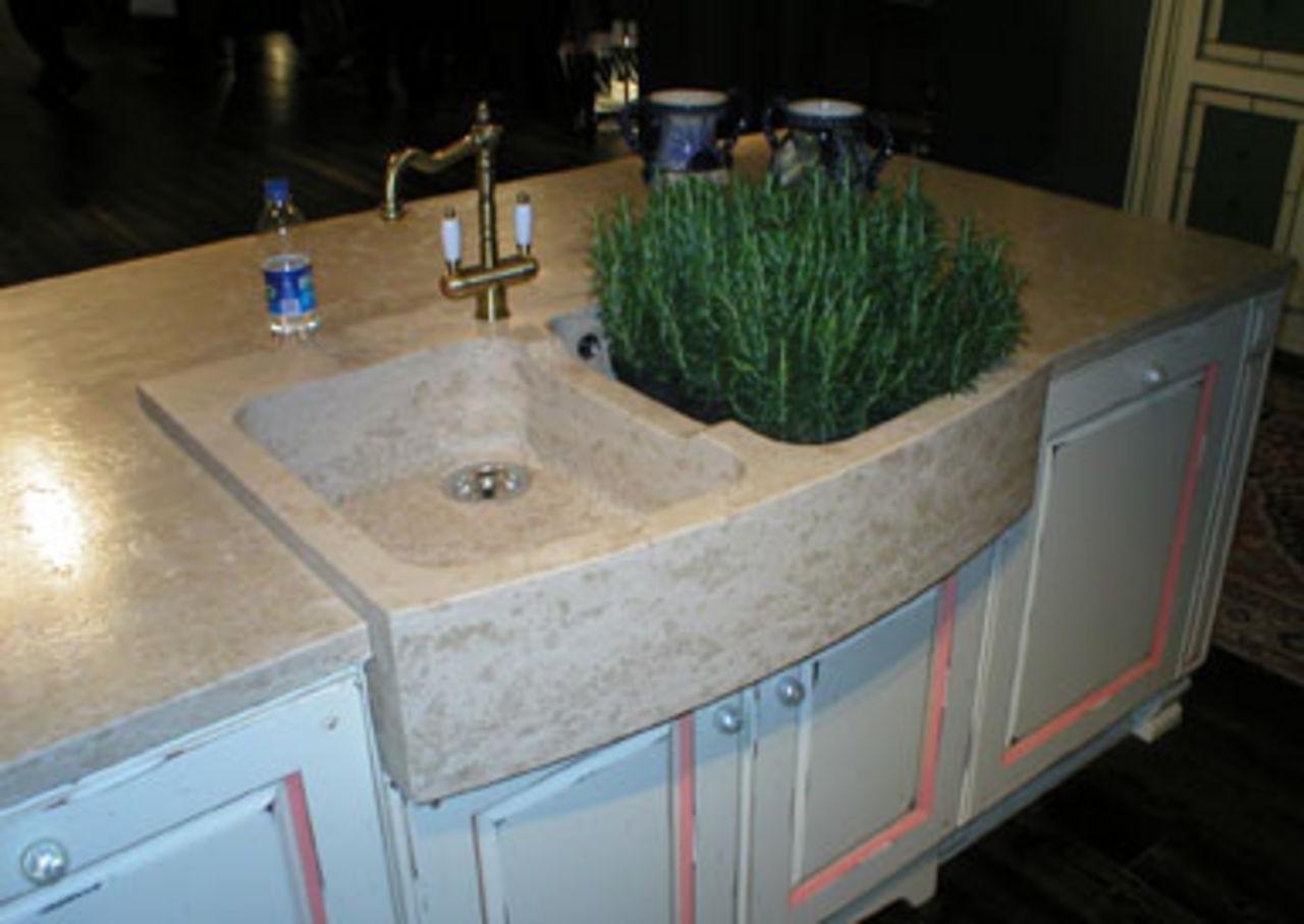 Cucine in muratura - Lavelli in pietra