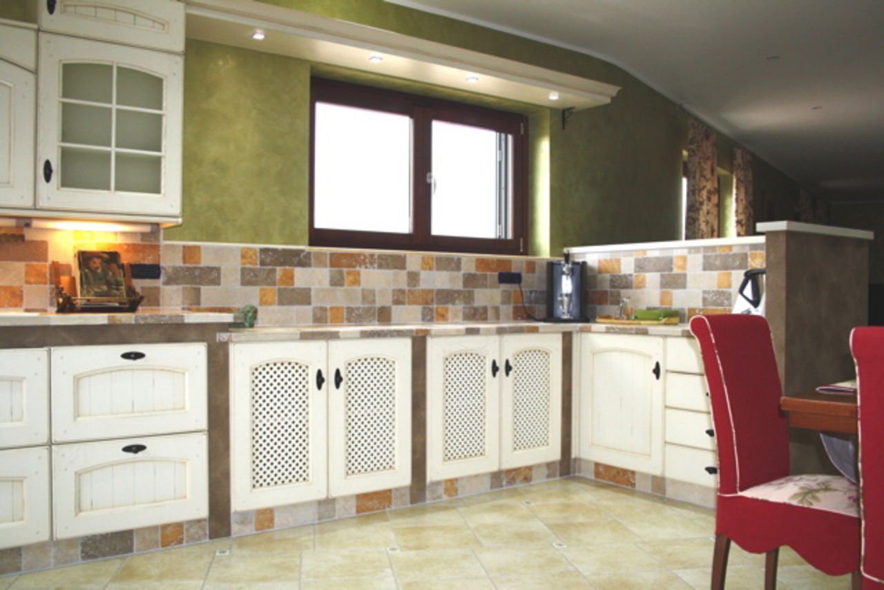 Ante cucina legno grezzo - Cucine moderne in muratura ...